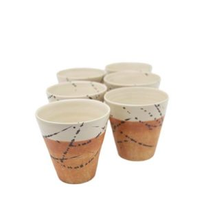 set-bicchieri vino-ceramica