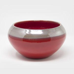 ciotola-ceramica-centrotavola-rossa