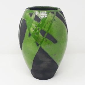 vaso-ceramica-raku-verde-nero