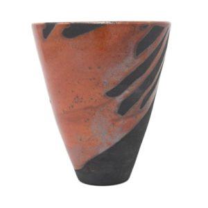 vaso-ceramica-raku-rosso-nero