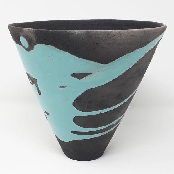 vaso-ceramica-raku-nero-turchese